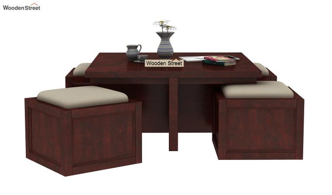 Naoshi Coffee Table (Mahogany Finish)-4