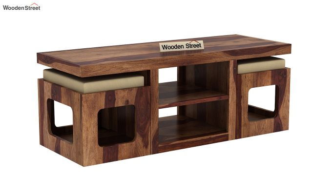 Octavia Coffee Table (Teak Finish)-3