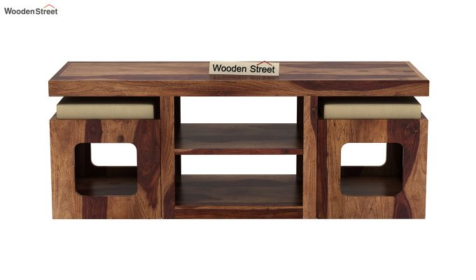 Octavia Coffee Table (Teak Finish)-4