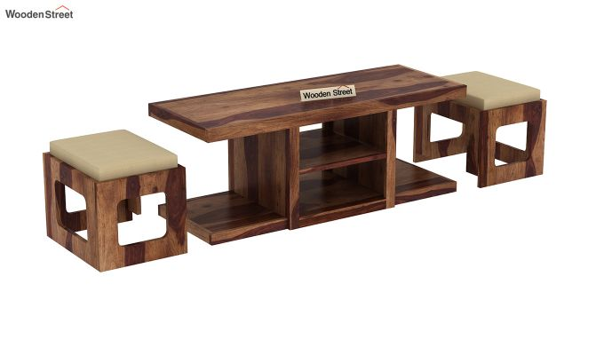 Octavia Coffee Table (Teak Finish)-5