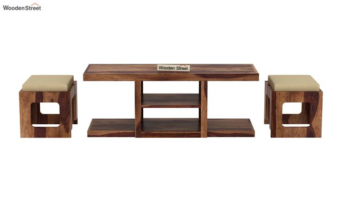 Octavia Coffee Table (Teak Finish)-6