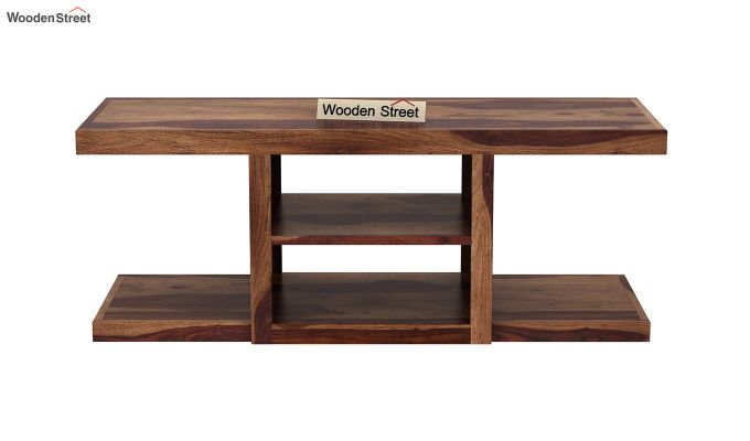 Octavia Coffee Table (Teak Finish)-7