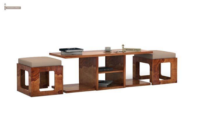 Octavia Coffee Table (Teak Finish)-1