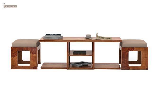 Octavia Coffee Table (Teak Finish)-2