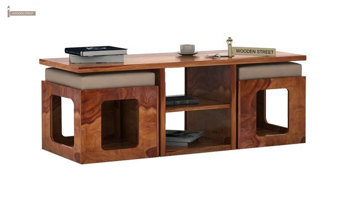 Octavia Coffee Table (Teak Finish)-3