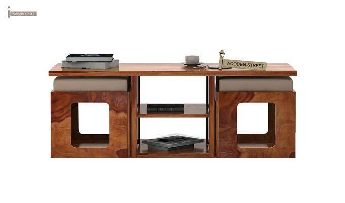 Octavia Coffee Table (Teak Finish)-4