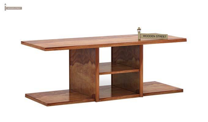 Octavia Coffee Table (Teak Finish)-5