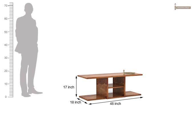 Octavia Coffee Table (Teak Finish)-9