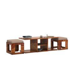 Octavia Coffee Table (Teak Finish)