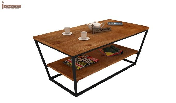 Olay Loft Coffee Table (Teak Finish)-4