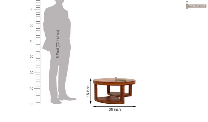 Omar Coffee Table (Honey Finish)-10