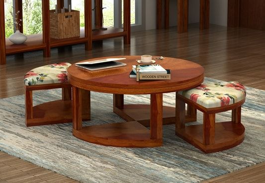 Buy Round coffee table online, Modern coffee table in India