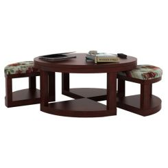 Omar Coffee Table (Mahogany Finish)