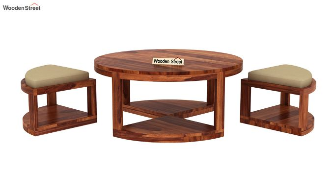 Omar Coffee Table (Honey Finish)-6
