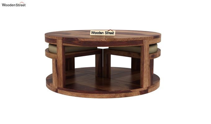 Omar Coffee Table (Teak Finish)-3