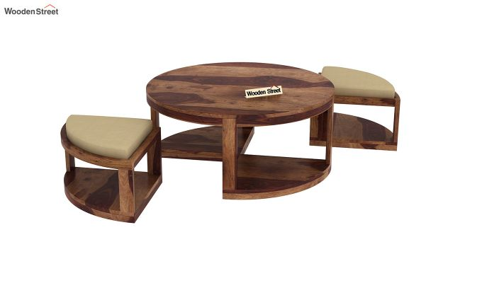 Omar Coffee Table (Teak Finish)-4