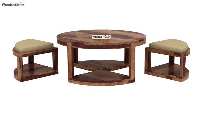 Omar Coffee Table (Teak Finish)-6