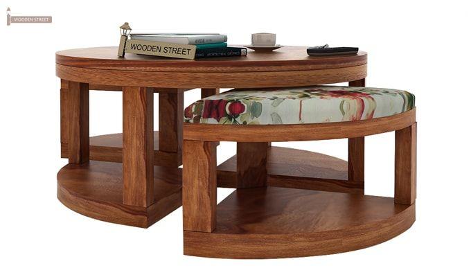 Omar Coffee Table (Teak Finish)-4