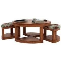 Omar Coffee Table (Teak Finish)