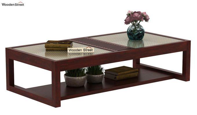 Palm Coffee Table (Mahogany Finish)-1