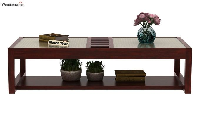 Palm Coffee Table (Mahogany Finish)-2