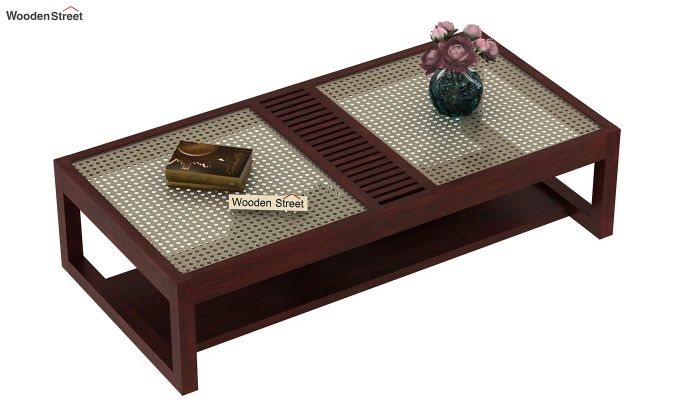 Palm Coffee Table (Mahogany Finish)-3