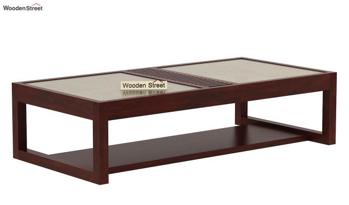 Palm Coffee Table (Mahogany Finish)-4