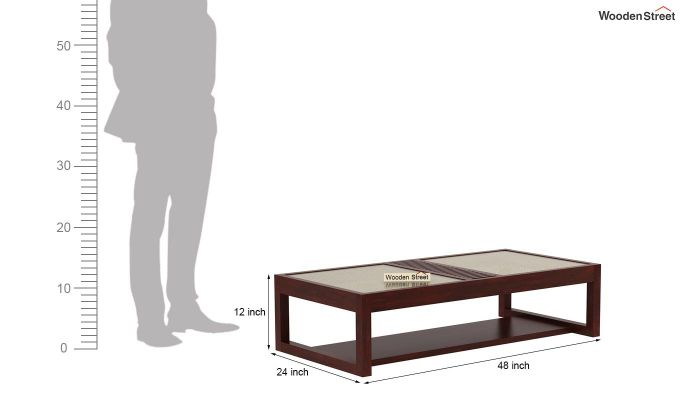 Palm Coffee Table (Mahogany Finish)-7
