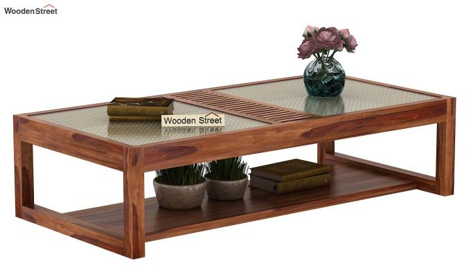 Palm Coffee Table (Teak Finish)-1