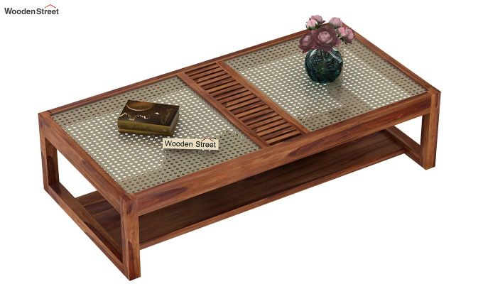 Palm Coffee Table (Teak Finish)-3