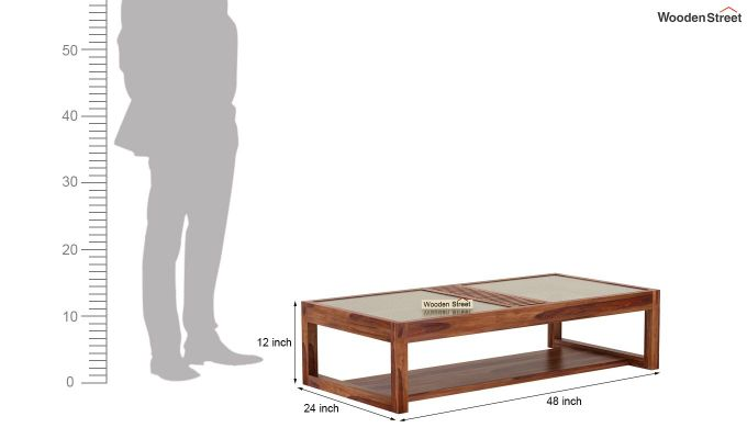 Palm Coffee Table (Teak Finish)-7