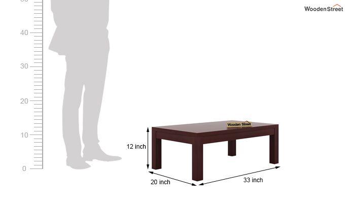 Patricia Coffee Table (Mahogany Finish)-5