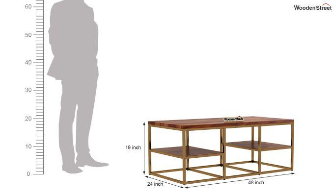 Patrick Coffee Table (Teak Finish)-5