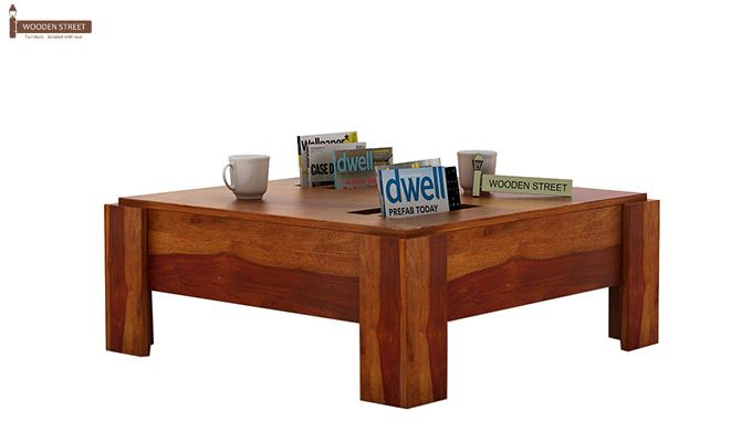 Penny Coffee Table (Honey Finish)-2