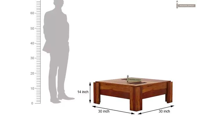 Penny Coffee Table (Honey Finish)-7