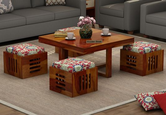 solid wood coffee table online Bangalore