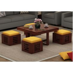 Petlin Coffee Table (Mahogany Finish)