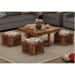 Petlin Coffee Table (Teak Finish)