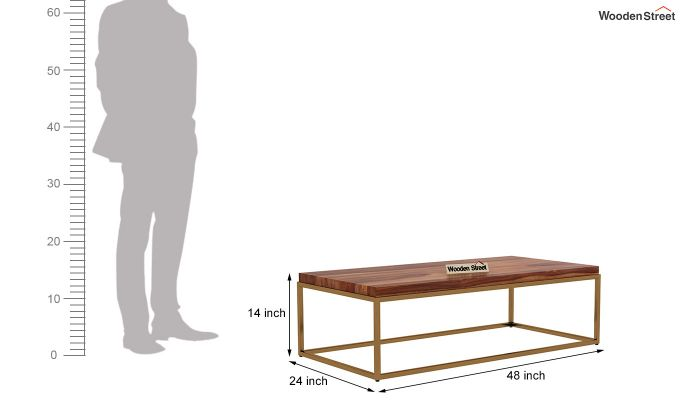 Plane Coffee Table (Teak Finish)-5