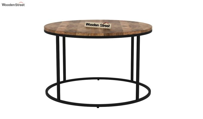 Poker Round Loft Coffee Table (Natural Finish)-3