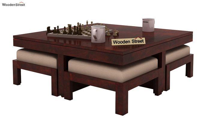 Reid Coffee Table (Mahogany Finish)-1