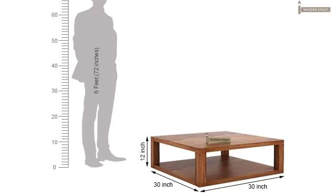 Restal Coffee Table (Teak Finish)-4