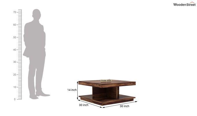 Ridell Tea Table (Teak Finish)-4