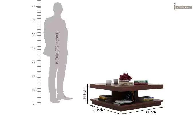 Ridell Tea Table (Walnut Finish)-5