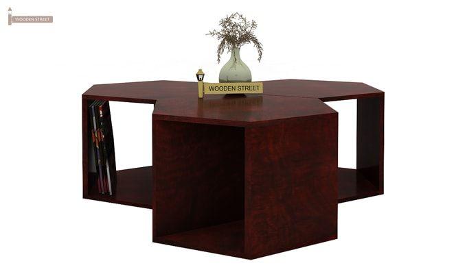 Ruth Centre Table - Set Of 3 (Mahogany Finish)-2