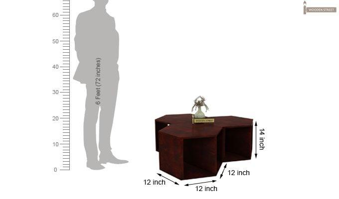 Ruth Centre Table - Set Of 3 (Mahogany Finish)-4
