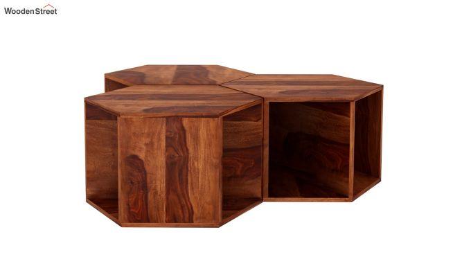 Ruth Centre Table - Set Of 3 (Honey Finish)-4