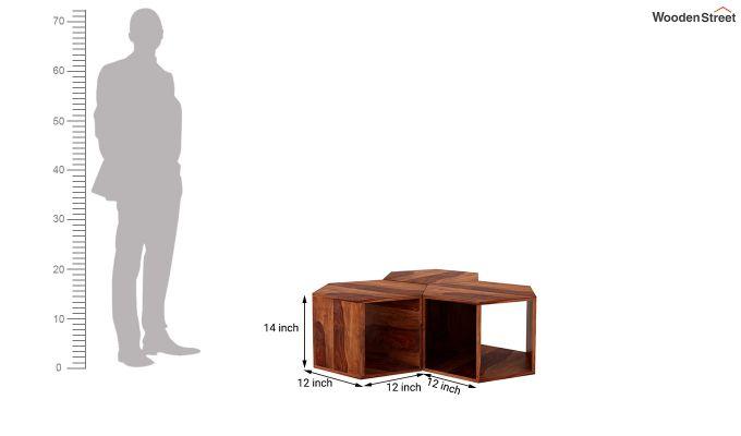 Ruth Centre Table - Set Of 3 (Honey Finish)-5