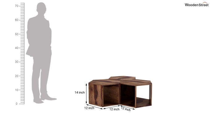 Ruth Centre Table - Set Of 3 (Teak Finish)-5