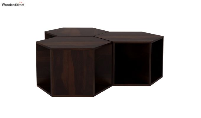 Ruth Centre Table - Set Of 3 (Walnut Finish)-4